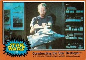 Contructing the Star Destroyer card